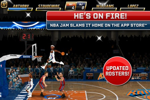 NBA Jam For iOS Updated With Current Roster Download - Gadgetian