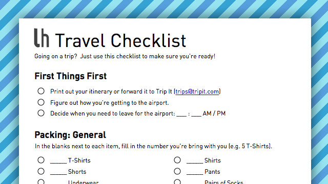 Geek-Ready Travel Checklist For Your Next Trip Lifehacker Australia - Business Trip Packing List