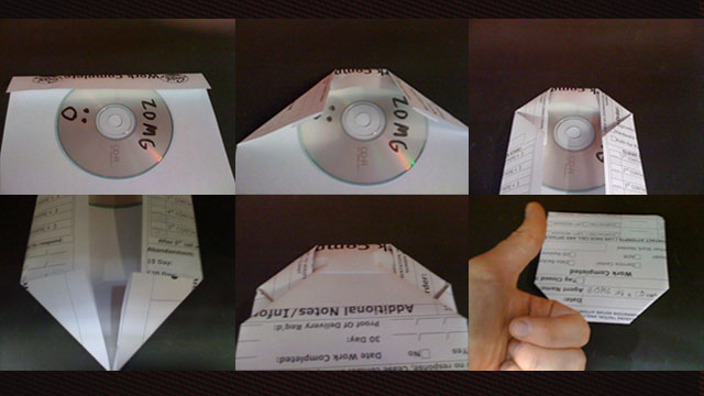 Easily Make A CD Case From A Sheet Of Paper Lifehacker Australia