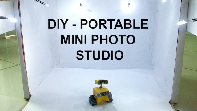 Build Your Own Portable Photo Studio From A Cardboard Box