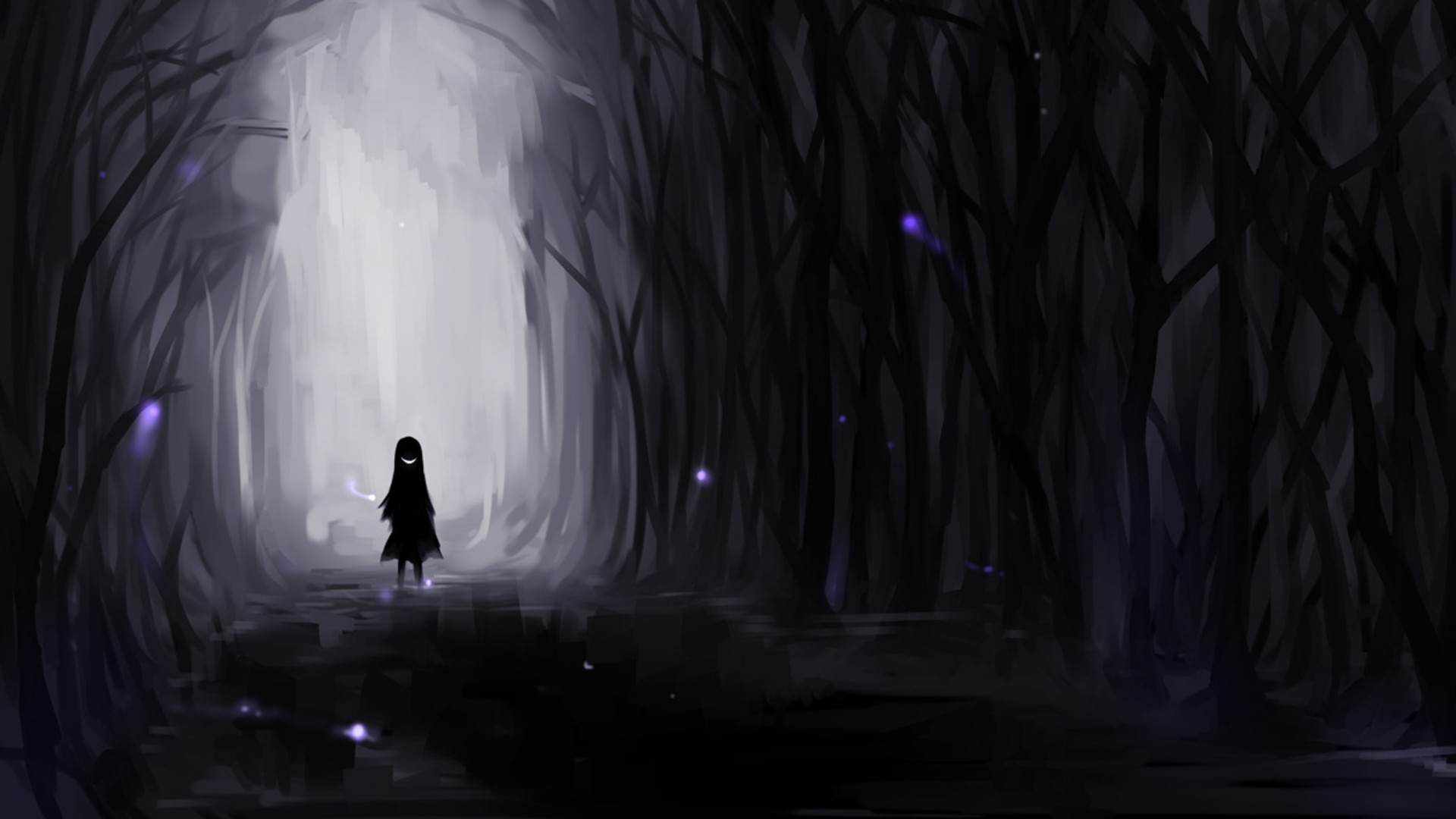 Girl Forest Wallpaper Weekly Wallpaper Explore The Dark Corners Of Your Desktop