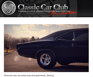 Sign Up For Monthly Classic Car Club News