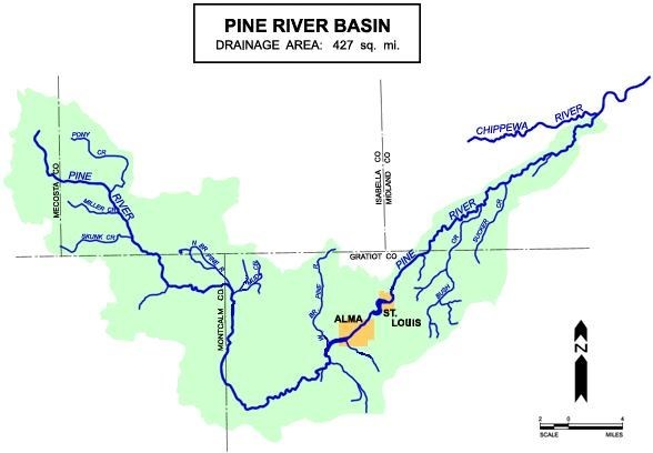 GC1HGE9 The Pine River Watershed (Earthcache) in Michigan, United