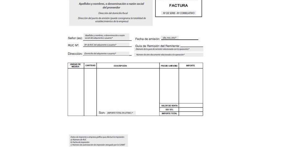 Sunat Conozca los nuevos modelos de facturas negociables Foto 1 - formato de factura de venta
