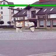 【おもしろ】相撲ファイト!道路の真ん中で3番勝負