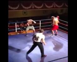 【衝撃映像】ボクシングで殴った腕が90度に折れ曲がる・・・