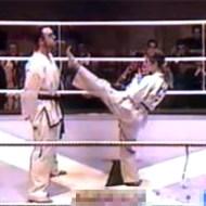 【衝撃映像:格闘技】美女「ココを蹴りまーす!」と見せかけて股間にドーン!!
