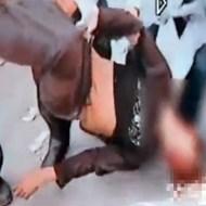 【グロ動画:自殺】中国で少年が屋根から飛び降り・・・顔面から逝ったぁ~!