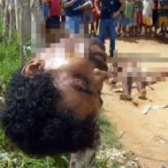 【閲覧注意:殺人】道端で首を切断されて生首を晒されている男性・・・