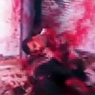 【閲覧注意:死体】シリアの吹き飛ばされた死体・・・壁一面血だらけ