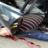 【グロ動画:死体】トラックにシートベルトは無駄無駄無駄!!!