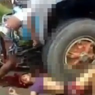 【ショッキング】少年二人乗り事故、車に頭がめり込んで死亡・・・