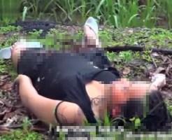 【グロ動画】妊娠した少女・・・が撃ち殺されて道端に捨てられる