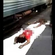 【グロ注意】緊急停止した電車の下から出てきた女性は・・・