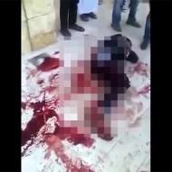 【死体映像】床一面に着いた血の跡が撃たれた痛みを物語ってる・・・