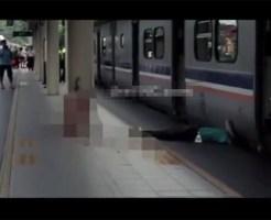 【自殺】通過する電車に飛び込んだらこんな事になるんだな・・・※閲覧注意