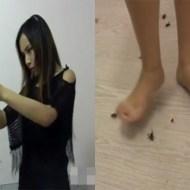 【超グロ注意】可愛い女の子が裸足で虫踏み潰してるんだが・・・