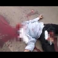【閲覧注意】事故でヘルメットと一緒に首が千切れ飛んだ悲惨すぎる映像・・・