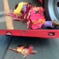 【グロ注意】子供を抱いた母親がバスに轢かれるも生還・・・子供は・・・? 閲覧注意