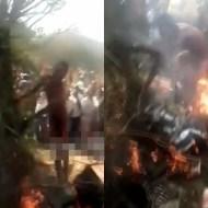 【閲覧注意】瀕死の状態までボコボコにして公開焼き殺しの刑がこちら・・・