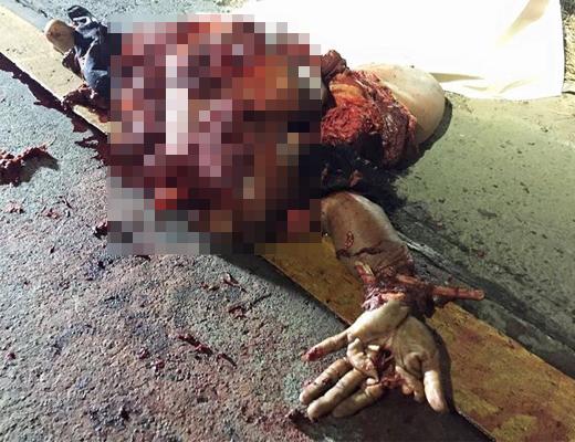 【グロ画像】もはや肉塊・・・損傷具合が激しい男性の遺体