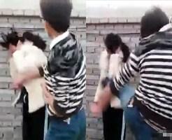 【本物いじめ】中国で男が女をボコボコにしていじめるマジキチ映像・・・
