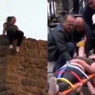 【自殺映像】17歳少女が『お母さんごめんなさい』と言いながら飛び降りるまで・・・