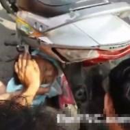 【閲覧注意】赤ちゃんがバイクの後輪に巻き込まれたらこうなる・・・