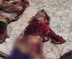 【閲覧注意】報復したくなる気持ちが分からなくもない空爆直後の街に転がる焼けた女子供の死体・・・ ※グロ動画