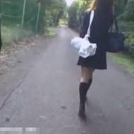 【JK レ●プ】部活帰りの女子校生が茂みに連れ去られ集団レ●プされる事案発生 ※動画