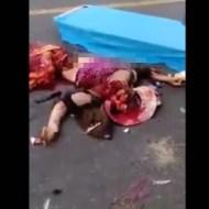 【グロ動画】きゃしゃな女の子がトラックに巻き込まれたらどうなったかご覧ください・・・ ※閲覧注意