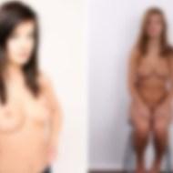 """【エロ画像】裸晒してるヌードモデルを """"修正なし"""" で撮ったらこうなる・・・"""