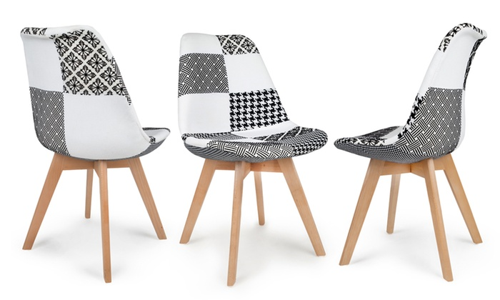 Groupon Chaises Scandinaves Lot De Chaises Scandinaves Patchwork | Groupon
