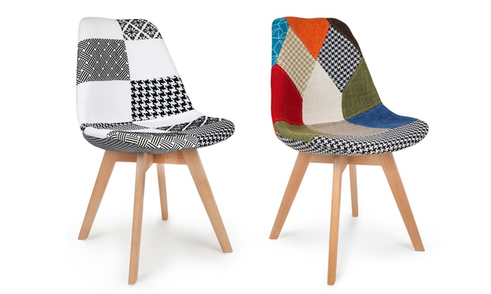 Groupon Chaises Scandinaves Chaises Scandinaves Patchwork | Groupon Shopping