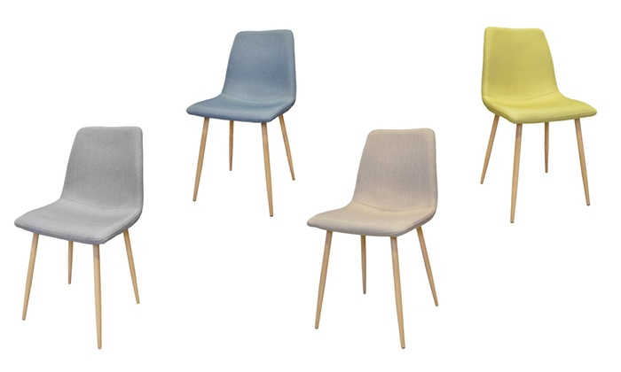 Groupon Chaises Scandinaves Chaises Scandinaves Pied En Métal | Groupon Shopping