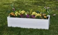 White Raised Patio Garden Box | Groupon