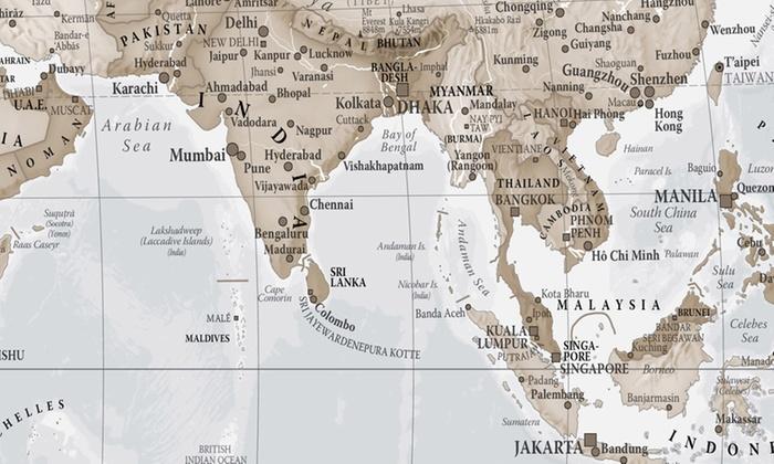 World Map Print Groupon Goods