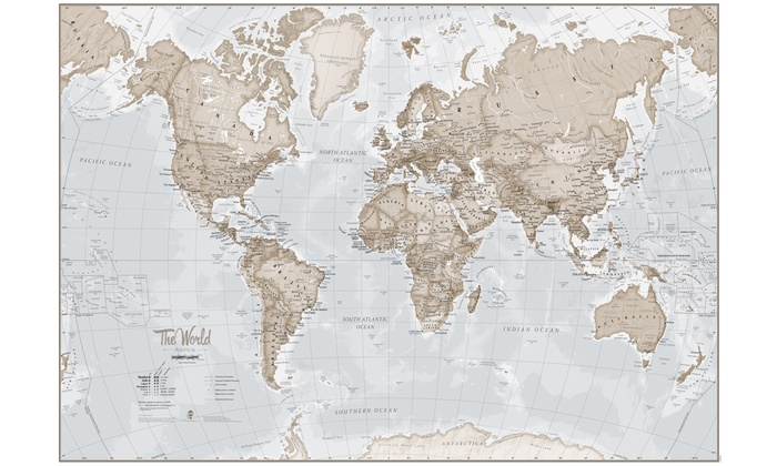 World Map Print Groupon