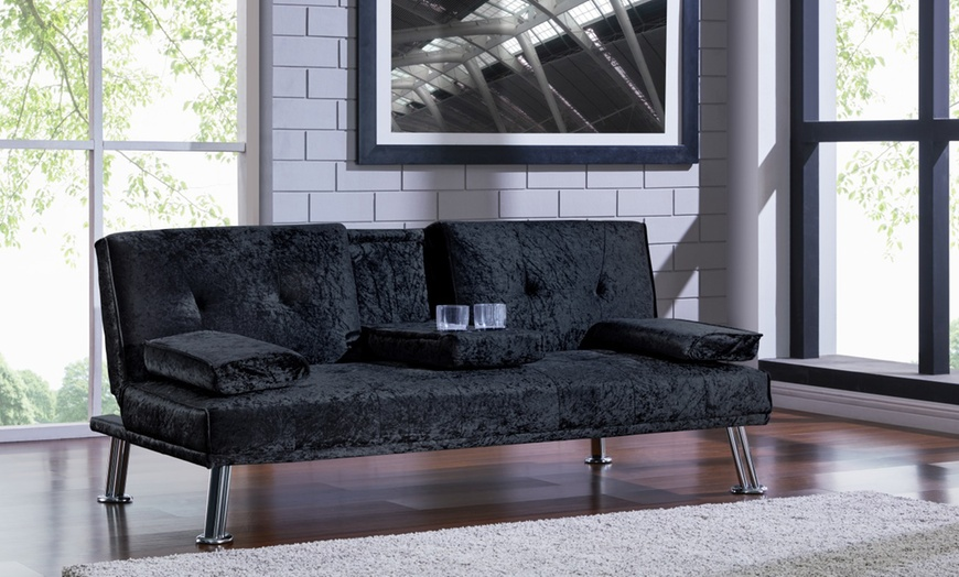 Sofa Bed With Cup Holder Groupon