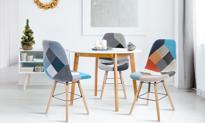 Groupon Chaises Scandinaves Lot Chaises Scandinaves Patchwork | Groupon Shopping