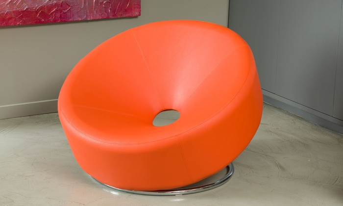 Bonded Leather Donut Chair