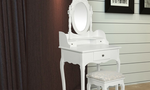 Visagie Tafel Barok Make-up Meubelen | Groupon Goods