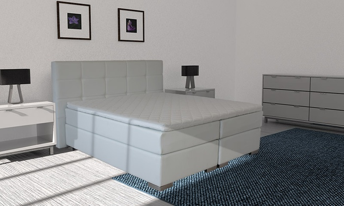 Boxspring Wit Leer Elegance Leatherlook Boxspring | Groupon Goods