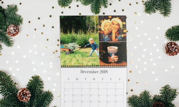 Personalized Monthly Calendars - collage Groupon