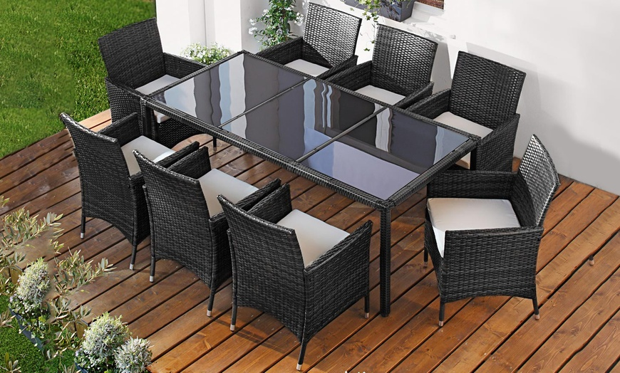 Polyrattan Garten Möbel Set Groupon Goods