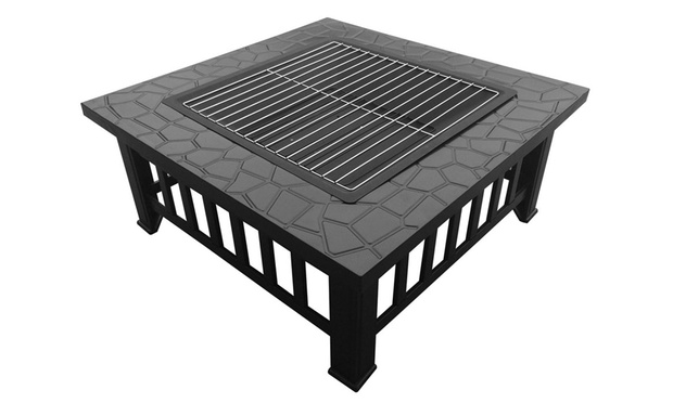 Outdoor Steel Fire Pit Groupon Goods