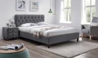 Grey Fabric Bed Frame | Groupon Goods