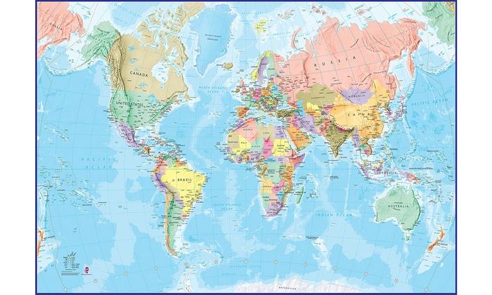 Mappa mondiale gigante da parete Groupon Goods - cartina mondo