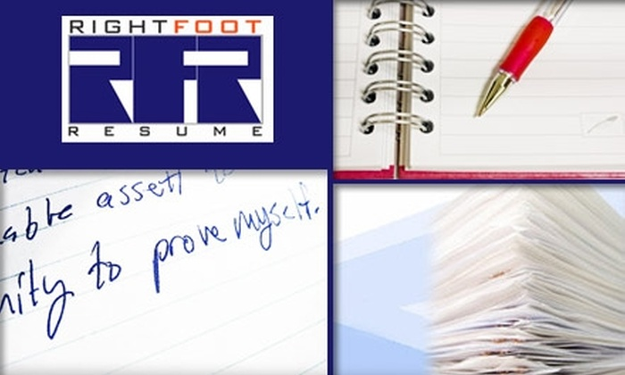 $65 for a Complete Resume Package at Right Foot Resume ($130 Value