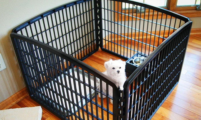 Baby Playpen Panels Indoor Outdoor 4 Panel Pet Playpen Groupon